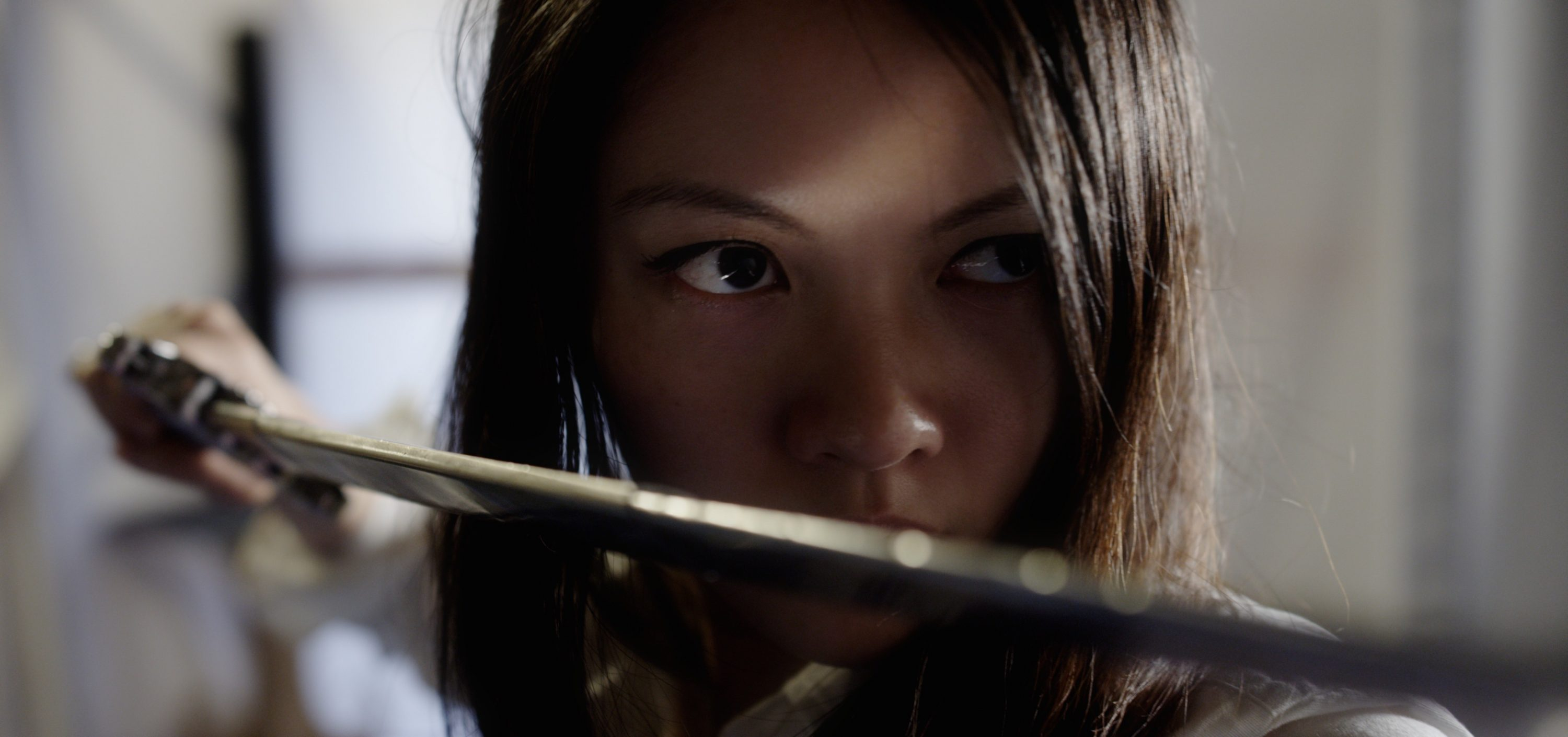 Actress Jenny Wu Sword Action