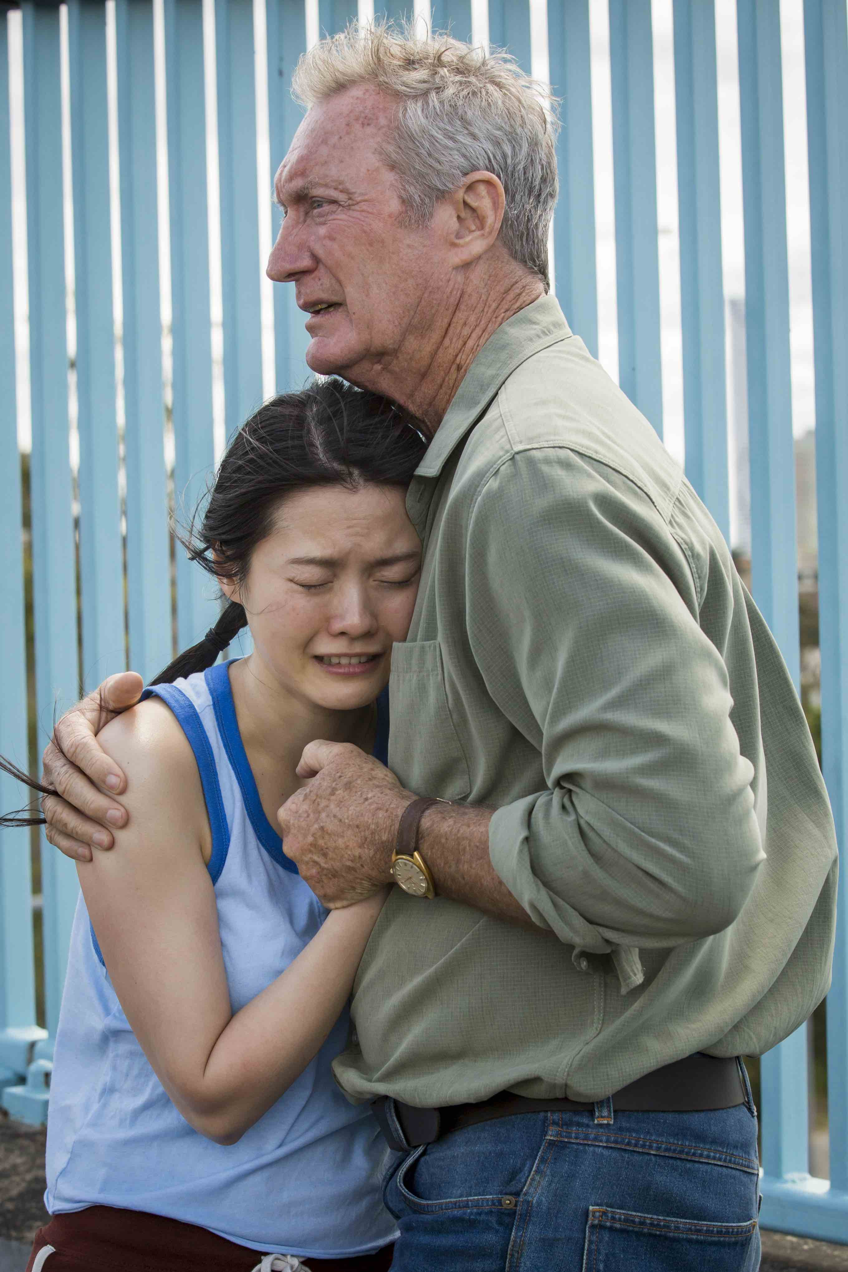 Actors Jenny Wu Bryan Brown Australia Day movie